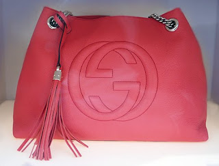 Gucci Soho Begonia Pink Leather Shoulder Bag.