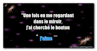Novembre 2012 statut facebook citation facebook for Regard dans le miroir que tu vois