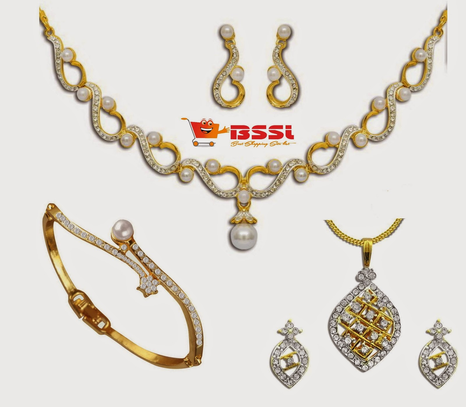 kundan golden designer necklace india tags shopping set matching online chain jewellery with buy pearl stone original earrings in