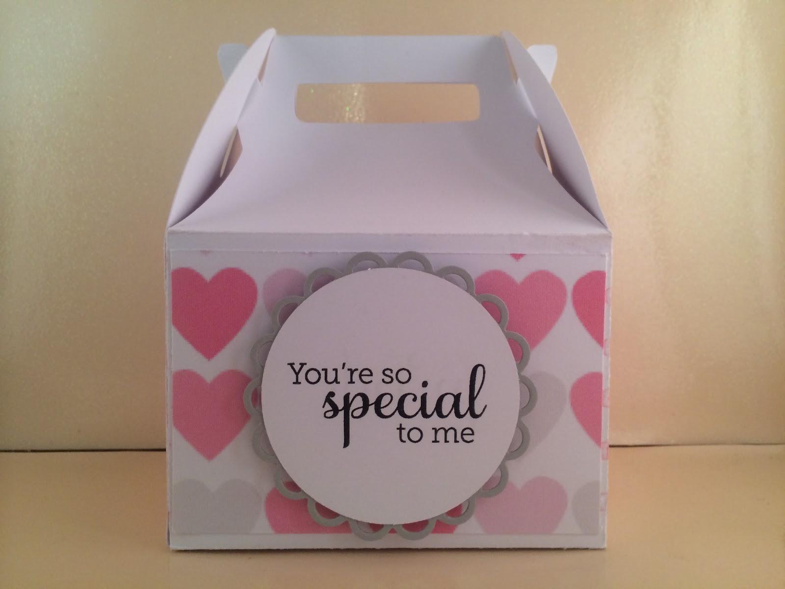 Creative Crafts Niche Valentines Day Cupcake Box  Card
