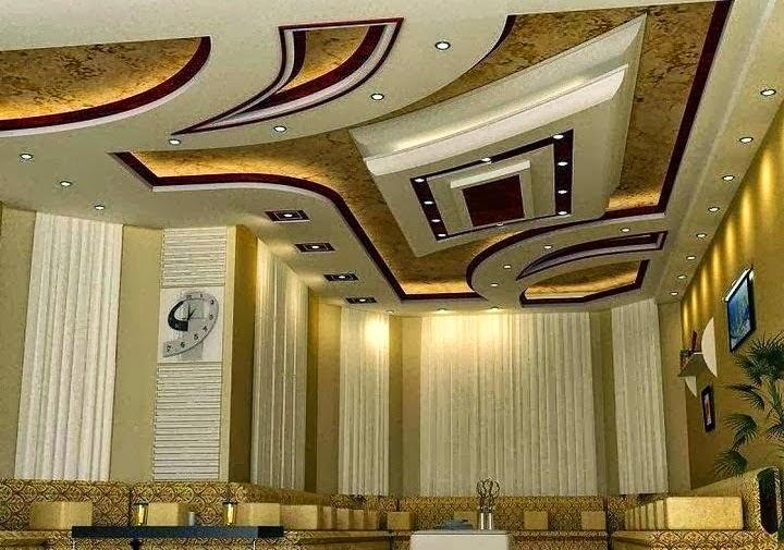 D coration de salon marocain plafond en platre suspendu for Decor platre salon marocain 2015