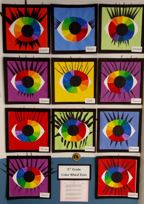 Mrs Pearce S Art Room Color Wheel Eyes