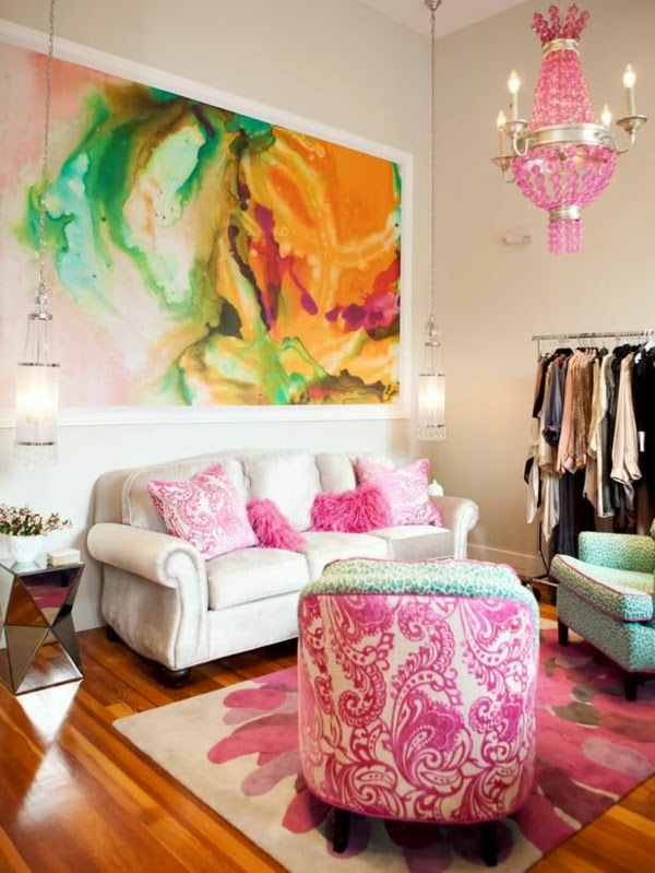 Colorful Living Rooms With White Walls. White Living Room Color Schemes,  Walls And Pink