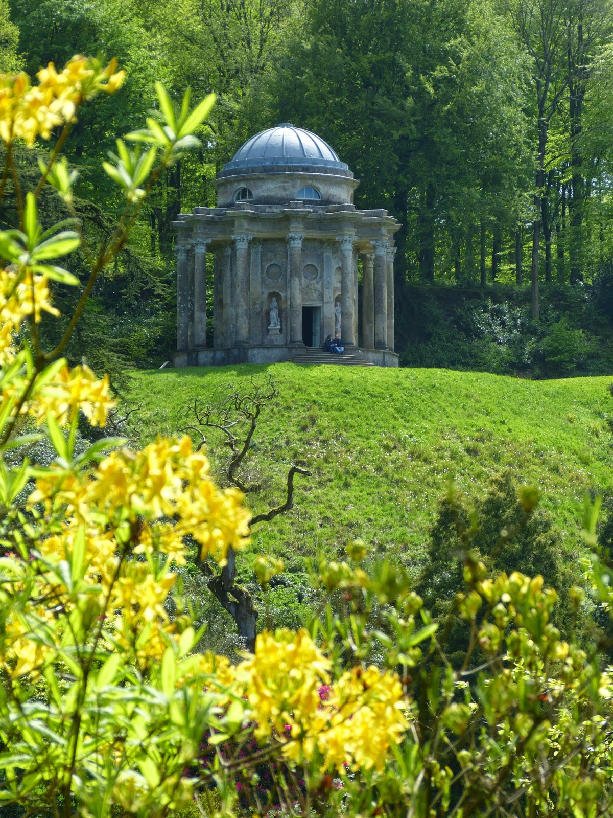 The Temple of Apollo in the gardens at Stourhead