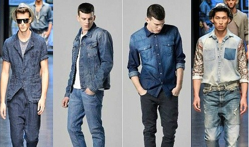 kemeja jeans cowok terbaru 2014 indo fashion