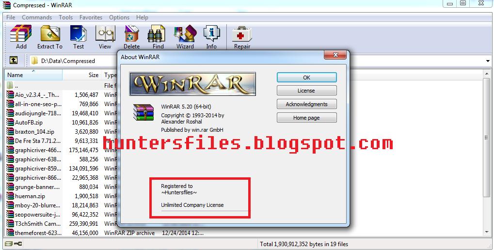WinRaR v5.20 Final Full License