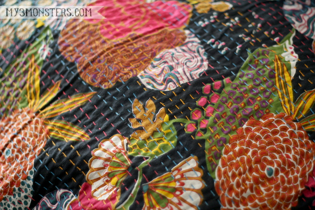 My latest decorating obsession: Kantha Quilts at my3monsters.com