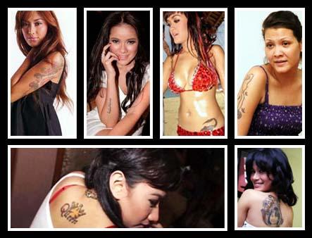 Foto Artis on Gambar Koleksi Tato Artis Indonesia   Artikel Indonesia Terbaik