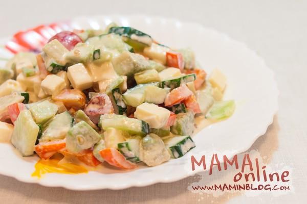 Салат с сыром и авокадо. Фото-рецепт.