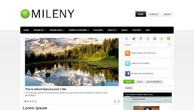Mileny Marketing Blogger Template