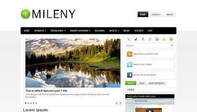 Mileny Marketing Blogger Template