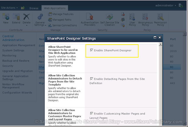 Disable SharePoint Designer in SharePoint 2010