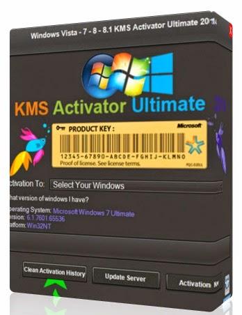Windows Vista Server 7/8/8.1 KMS Activator Ultimate v2.1 x86/x64