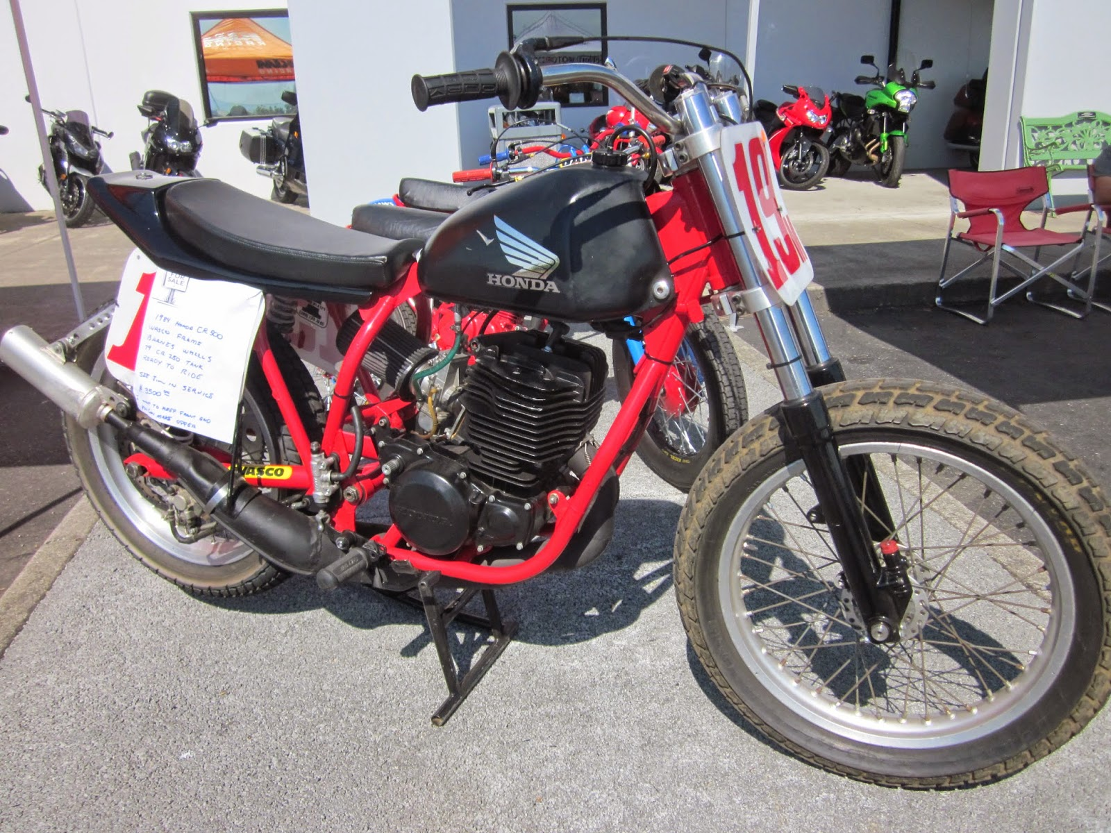 1984 Honda CR250 Flat Tracker In Wasco Frame On Display At The 2014 VJMC Hinshaws Motorcycle Show N Shine Auburn Wa