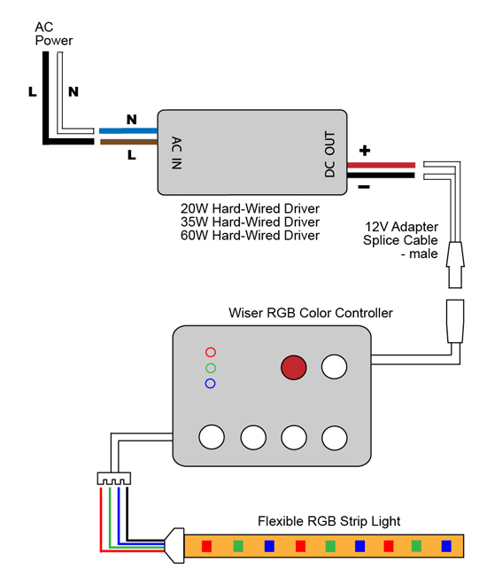 LED Light Wiring Diagram on Led Light Strip Wiring Diagram