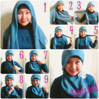Cara Memakai Jilbab Modern yang Cantik dan Simple (Hijab Tutorial ...