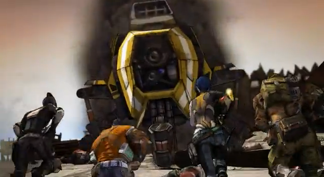 Borderlands 2 Zero, Salvador, Maya and Axton versus Claptrap Robot