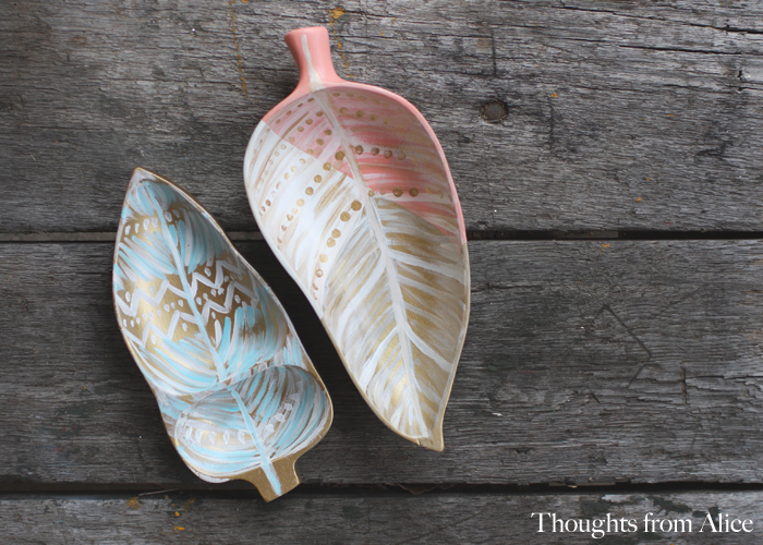Boho painted thrift strore woood trays and supply resources