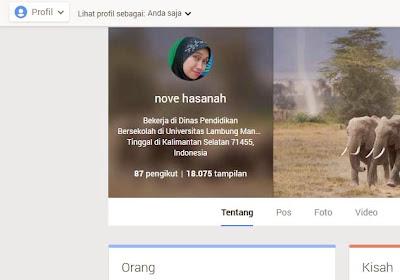 mengedit profil google+
