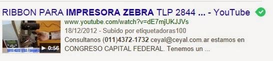 Etiquetas Zebra 50X25
