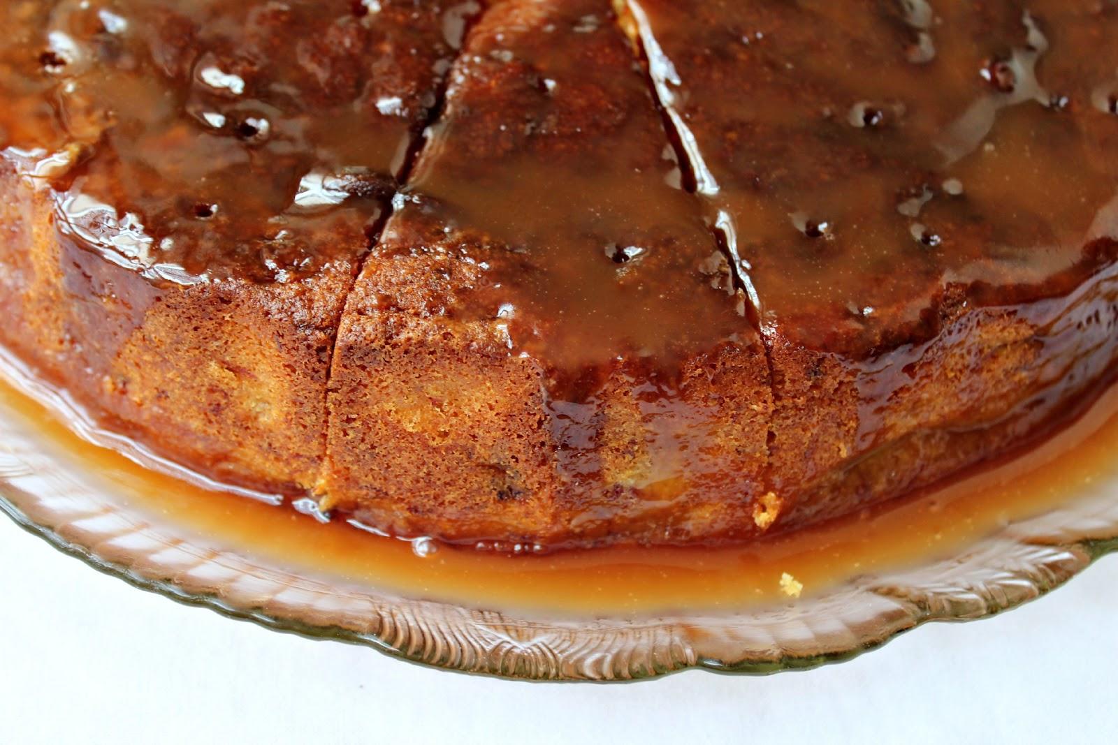 Milk and Honey: Banana Cake with Caramel Sauce