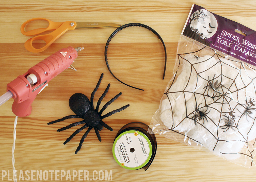 Please note diy dollar store spider headband for Black headbands dollar tree