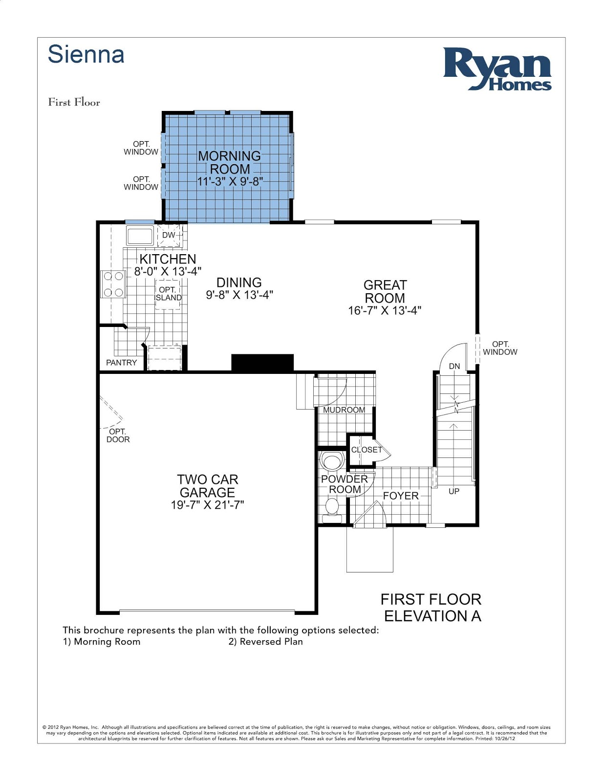 Sienna ryan home floor plan house design plans for Ran homes plans