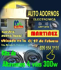 KITS de Altavoces 4 vías 300w  - Auto Adornos MARTINEZ