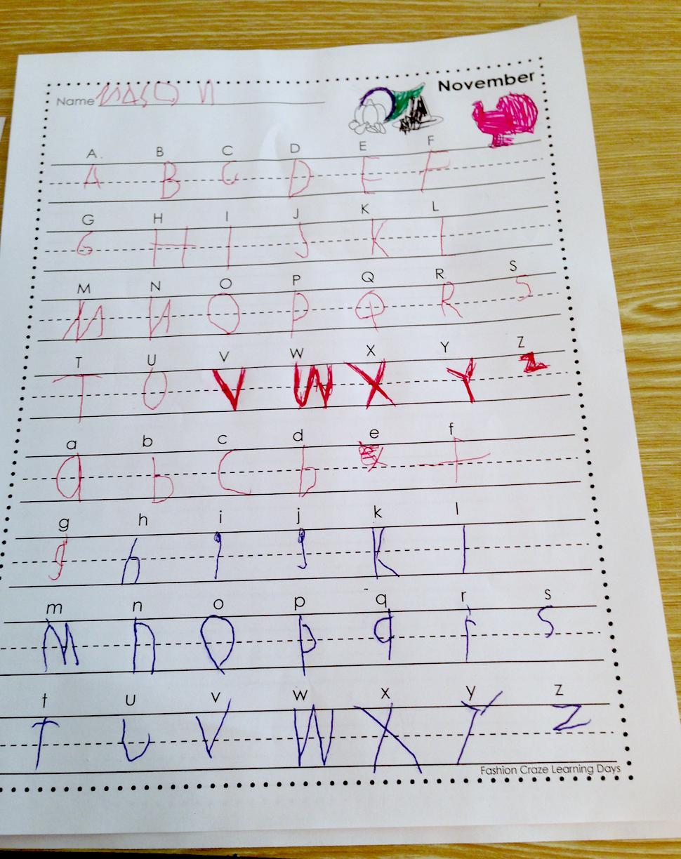Custom handwriting worksheets cursive
