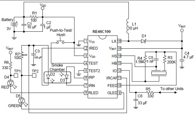 wiring schematic diagram  tgs813 gas alarm