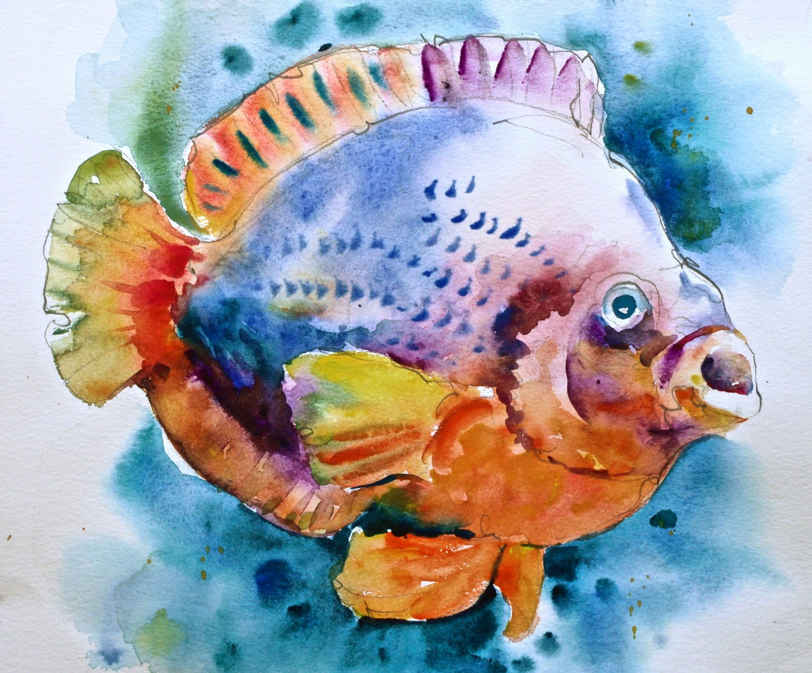 David lobenberg july 2011 for Fish out of water watercolor