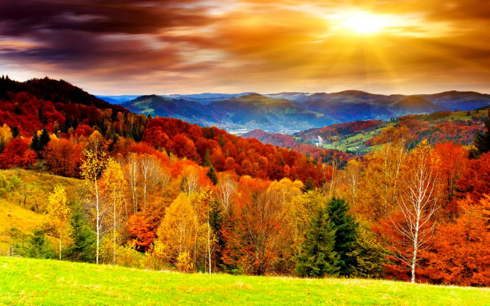Art Pictures: Autumn Scenery Desktop Wallpapers