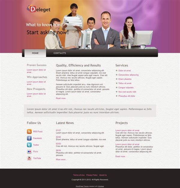 Deleget - Free Wordpress Theme