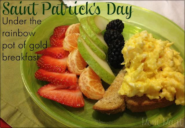 Saint Patrick's Day Under the rainbow pot of gold breakfast