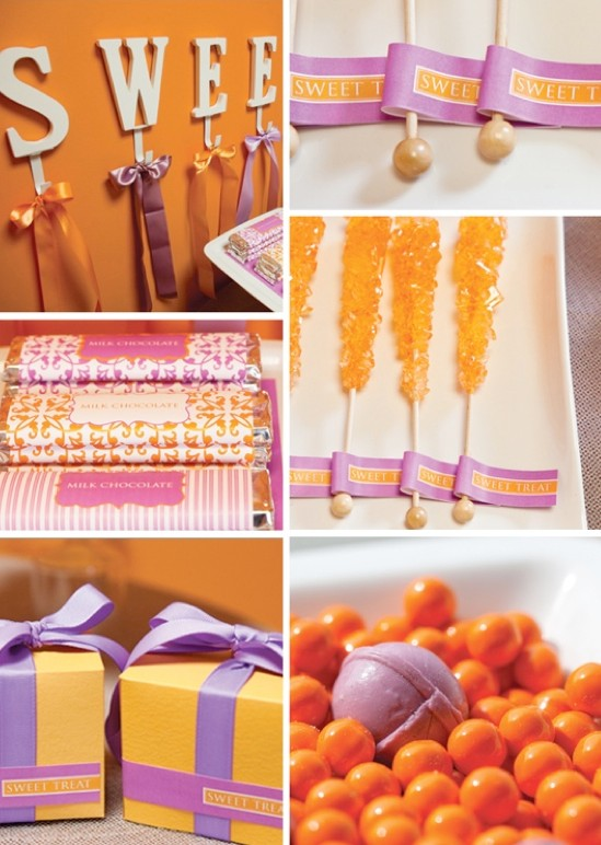 Purple And Orange Wedding Ideas