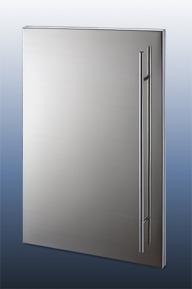 Stainless steel cabinet doors for Metal cabinet doors kitchen