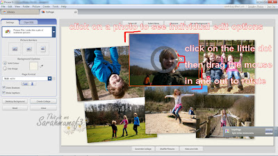 rotate and risize photos in collages picasa
