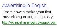 iklan bahasa ingggris