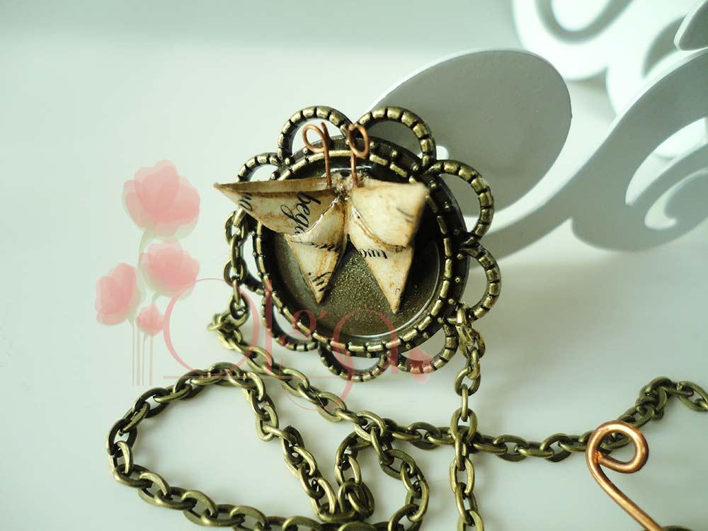 Collar Mariposa de origami