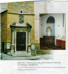 Igreja de São Udarico na cidade de Lavis, Itália, onde Ginetta foi  batizada.