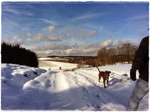 Schöner Winterspaziergang