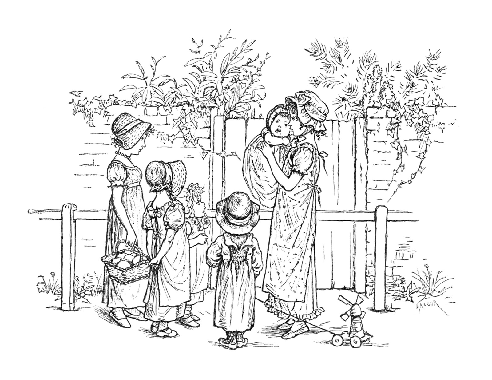 plush possum studio free regency children coloring page