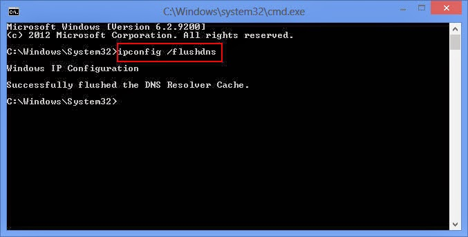 Flush DNS Cache pada Windows