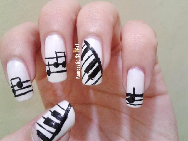 Day 24: Musical nails – Bombastic Nail Art