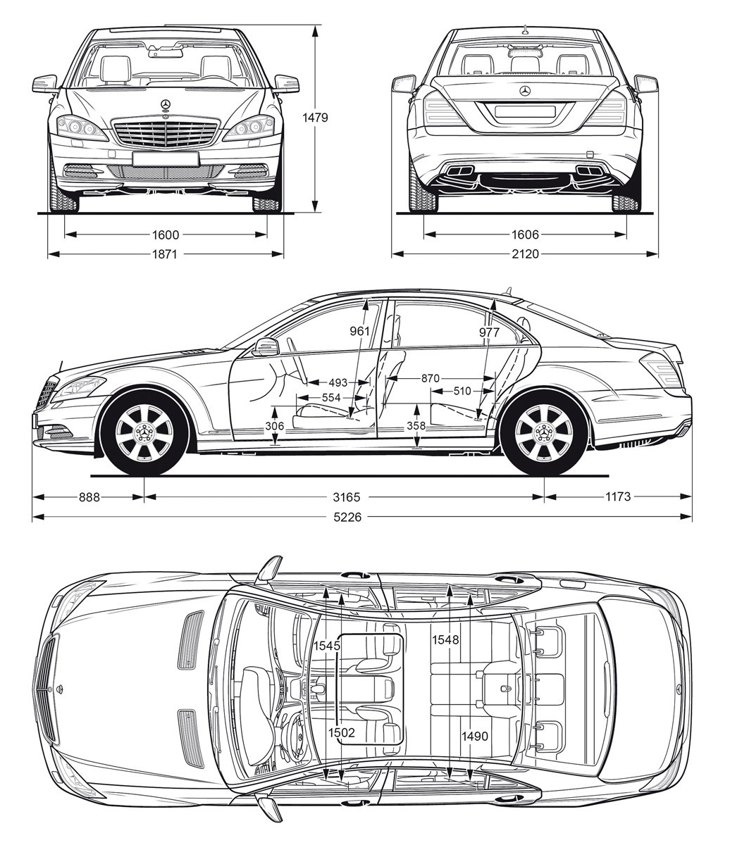 Blueprint   Mercedes Benz S Class 2010