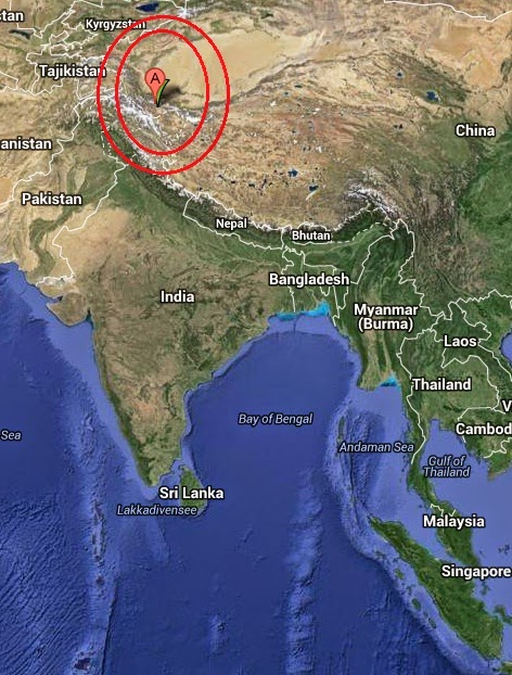 Magnitude 4.1 Earthquake of Thang, India 2014-10-21