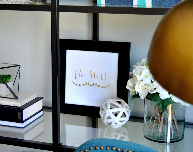 giveaway, gold, gold foil, gold foil print, winner, be still, brass, hydrangea, tjmaxx, homegoods, ikea, ikea usa, world market, teal, nail head