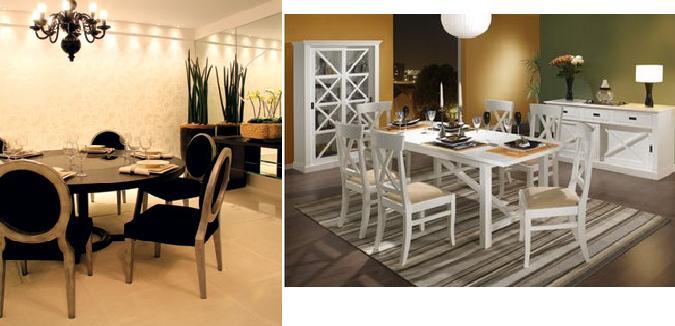 Sala De Jantar Com Tapete De Couro ~ Blog Estilo & Décor Tapete sala de jantar certo x errad