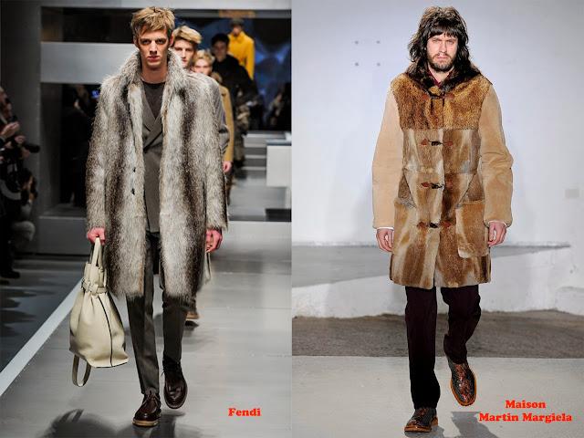 Tendencia otoño_invierno 2013-14 piel: Fendi y Maison Martin Margiela.