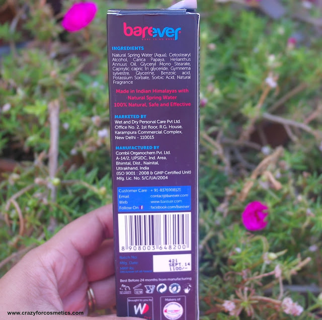 Barever Natural hair remover review